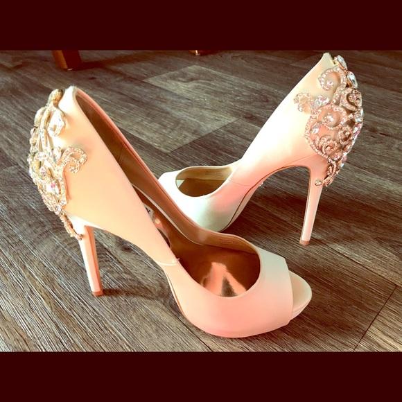 b631743cd3 Badgley Mischka Shoes - Badgley Mischka Karolina Embellished Peep Toe Pump
